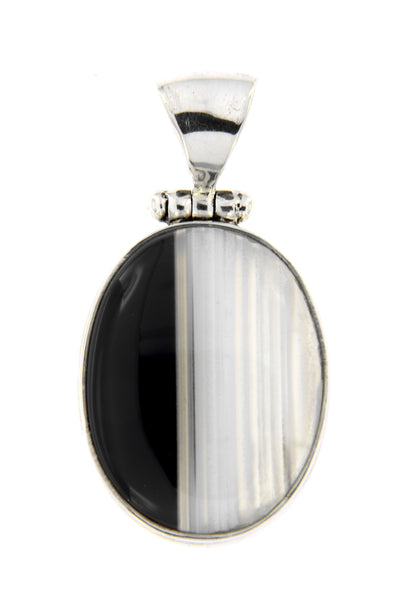 Black Striped Agate Pendant