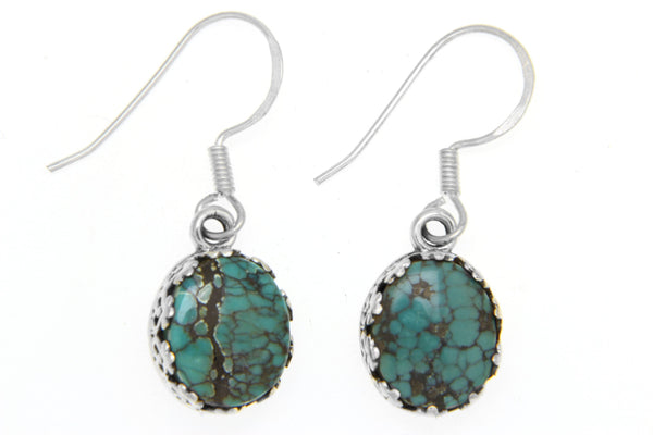 Oval Filigree Dangle Earrings