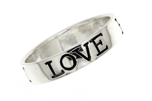 Love Hope Faith Sterling Silver Ring