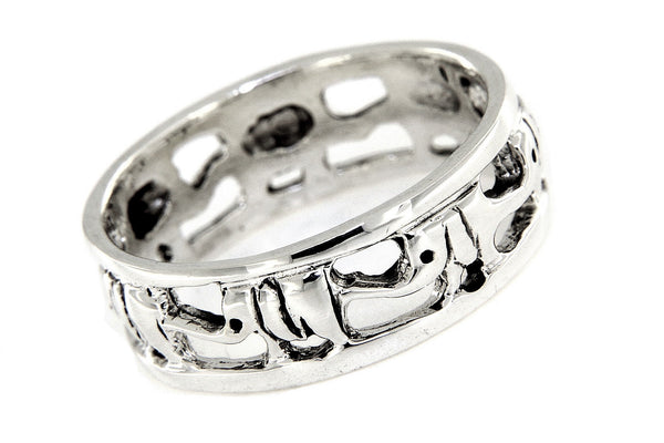 Elephant Migration Sterling Silver Band Ring