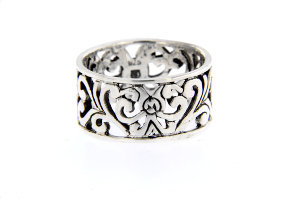 Filigree Sterling Silver Band