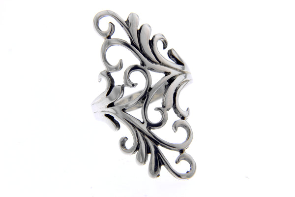 Filigree Swirl Sterling Silver Ring