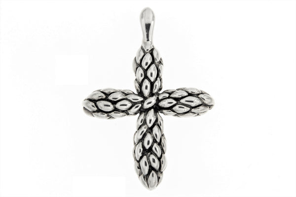 Sterling Silver Electroform Cross Pendant