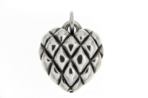 Sterling Silver Electroform Heart Pendant
