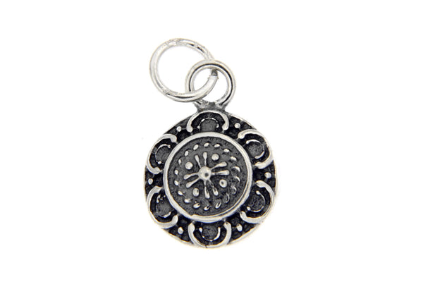 Sterling Silver Round Disk Charm