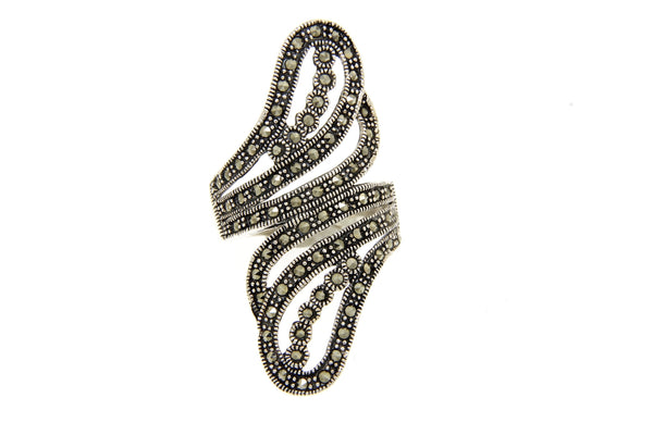 Swirl Filigree Marcasite Ring