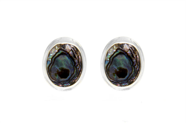 Abalone Oval Stud Earrings
