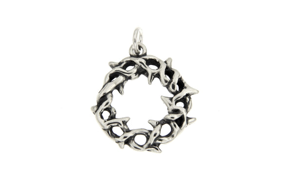 Sterling Silver Crown of Thorns Charm