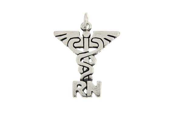 Sterling Silver RN Charm
