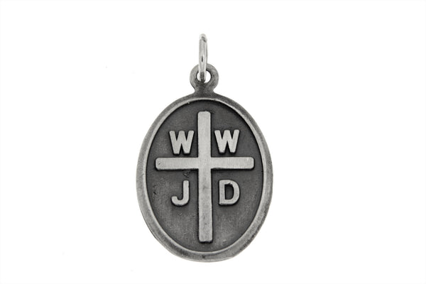 Sterling Silver What Would Jesus Do Charm