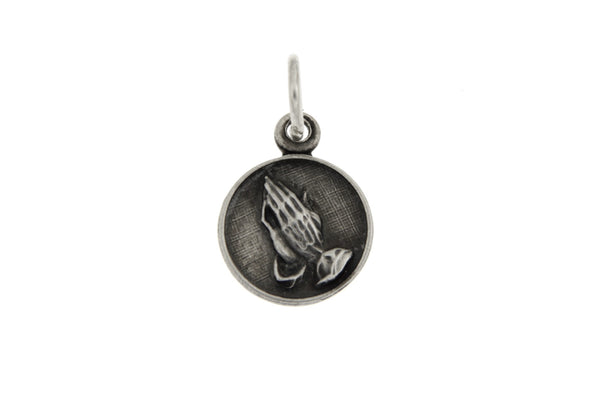 Sterling Silver Small Praying Hands Charm