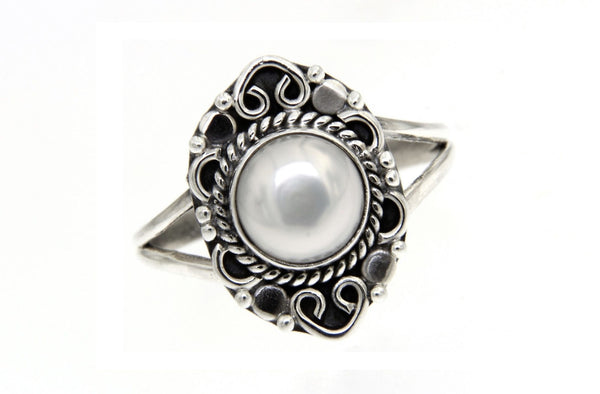 Freshwater Pearl Filigree Ring