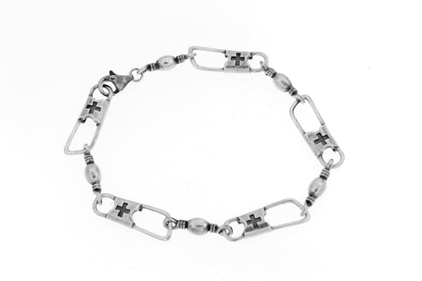 Sterling Silver ACTS Mens Bracelet/8 in.