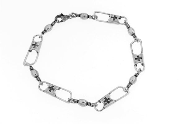 Sterling Silver ACTS Mens Bracelet/8.75 in.