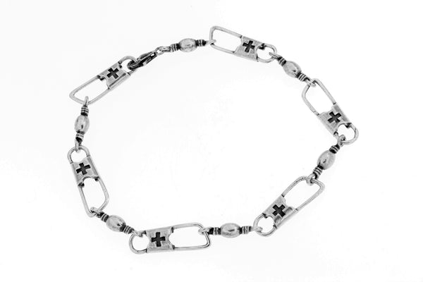 Sterling Silver ACTS Mens Bracelet/9.5 in.
