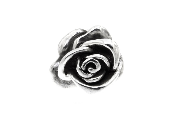 Sterling Silver Electroform Rose Blossom Ring/27 mm.