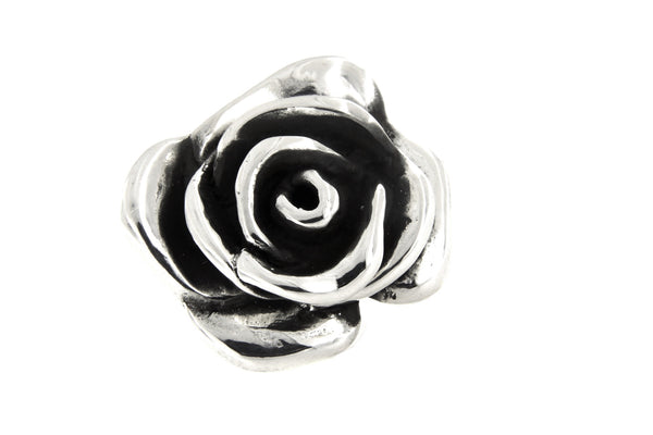 Sterling Silver Electroform Rose Blossom Ring/28 mm.