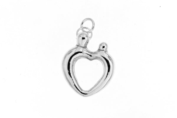 Sterling Silver Cutout Heart Pendant