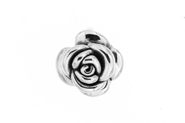 Sterling Silver Electroform Rose Pendant/23 mm.