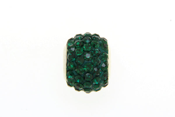 Green Crystal Bead Charm