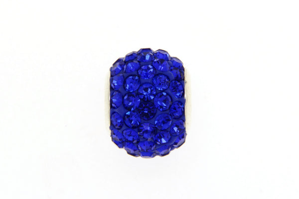 Blue Crystal Bead Charm/10mm