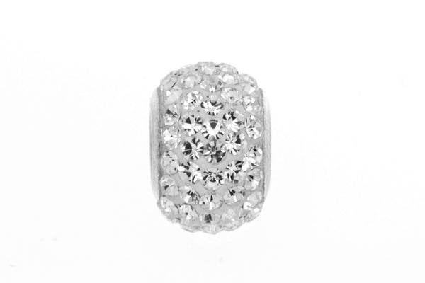 White Crystal Bead Charm/10mm