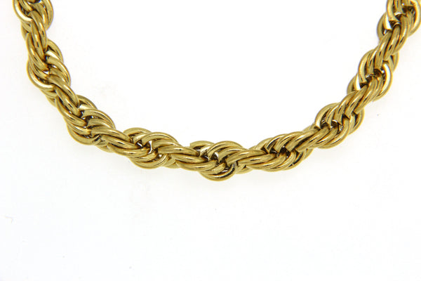 Gold Stainless Steel Rope Chain