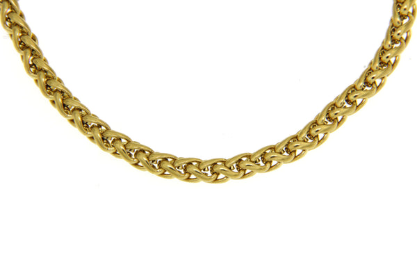 Gold Stainless Steel Wheat Chain
