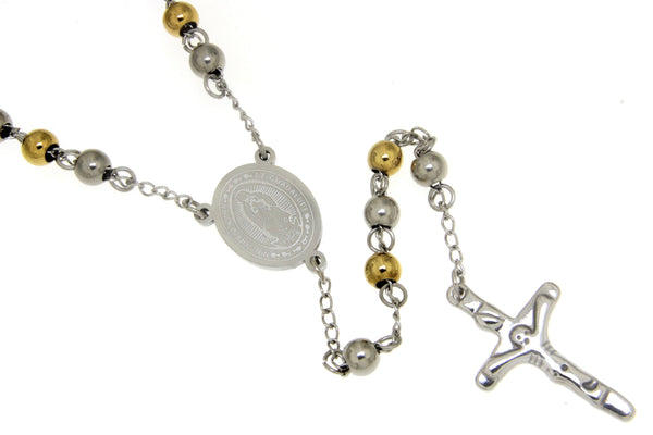 Nuestra Senora De Guadalupe Stainless Steel Two-Tone Rosary