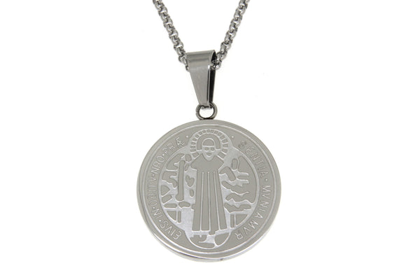 Saint Benedict Stainless Steel Necklace
