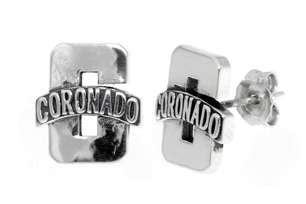 Sterling Silver Coronado High School Stud Earrings