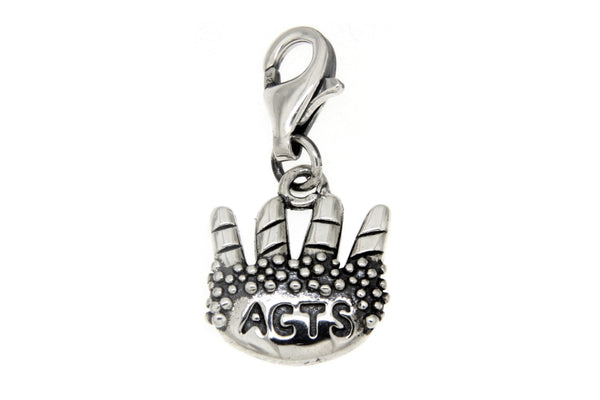 Sterling Silver Agape Breadbasket ACTS Clip Charm