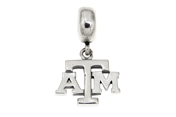 Sterling Silver Texas A&M University Slide Charm