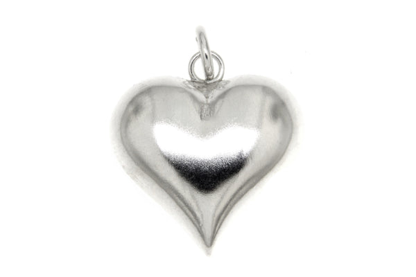 Sterling Silver Puffy Heart Pendant/21mm