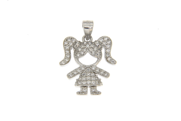 CZ Little Girl Pendant