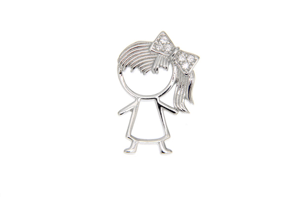 Cubic Zirconia Little Girl Pendant