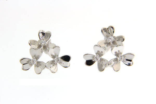 Cubic Zirconia Flowers Earrings