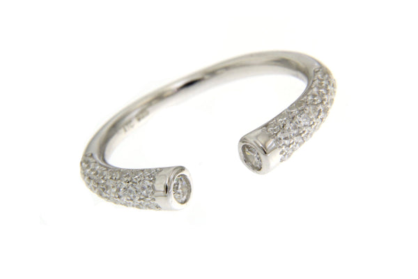 Top Openable Sterling Silver Cubic Zirconia Ring