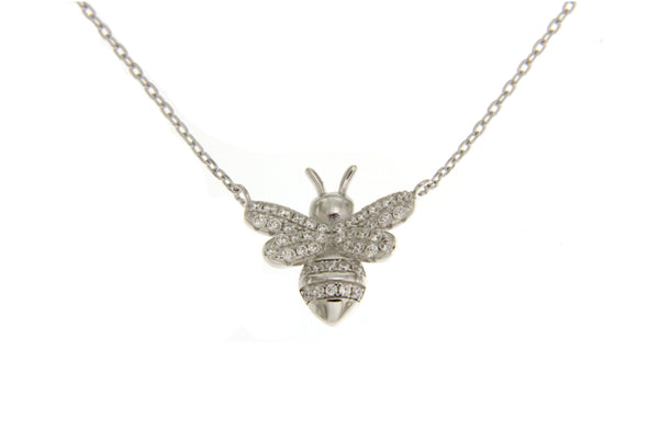 Cubic Zirconia Bumble Bee Necklace