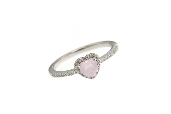 Pink Cubic Zirconia Heart Ring