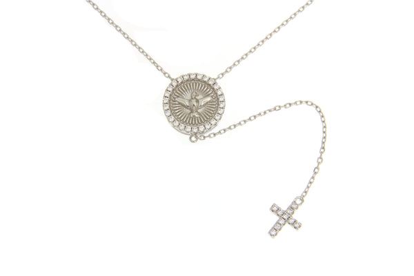 Cubic Zirconia Holy Spirit Necklace