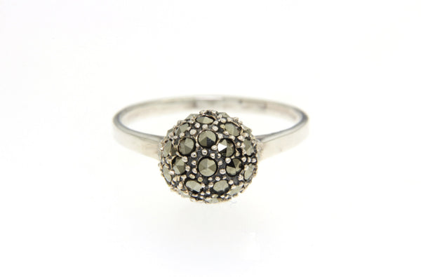 Silver Marcasite Disco Ball Ring