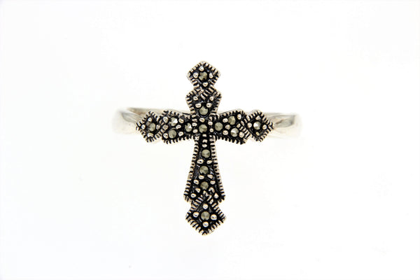Marcasite Cross Ring