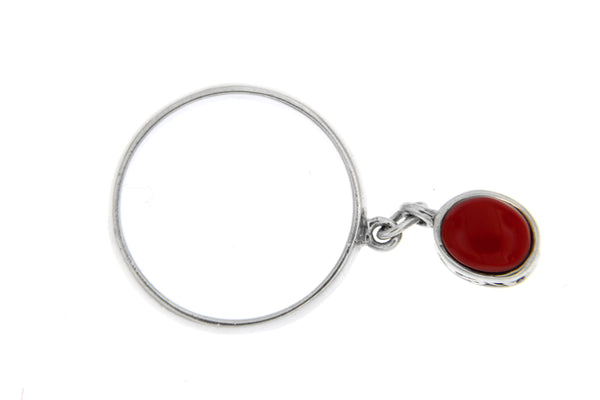 Red Coral Filigree Dangle Band