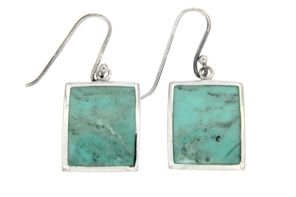 Turquoise Rectangle Drop Earrings