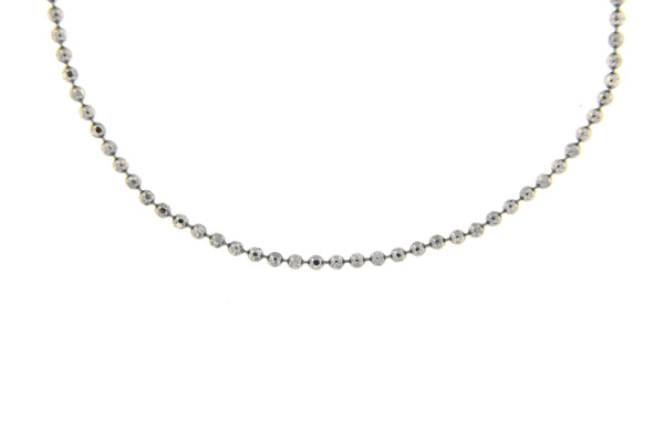 Sterling Silver Faceted Ball Chain