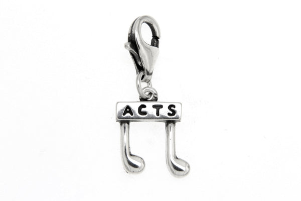 Sterling Silver ACTS Music Note Clip Charm