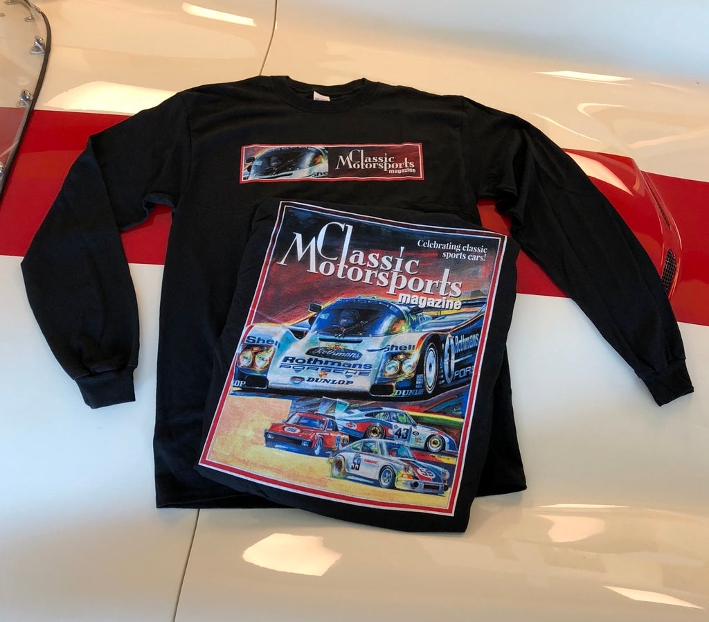 Black Porsche Long Sleeve Shirt