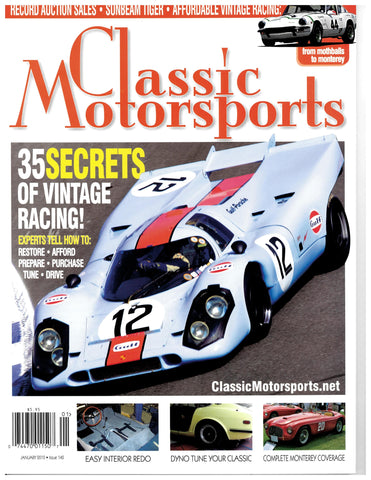 January 2010 - 35 Secrets of Vintage Racing!
