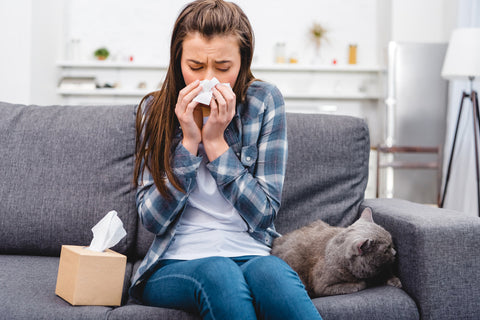 Woman allergic to her cat